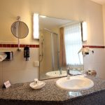 Waschbecken Bad Hotelzimmer